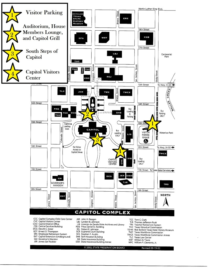 Capitol Building and Surrounding Area Map